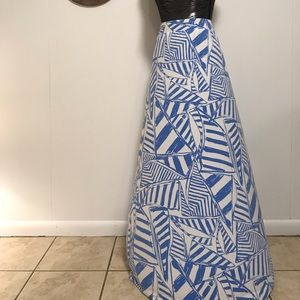 Lily Pulitzer blue and white maxi skirt